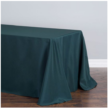 banquet, hunter green tablecloth