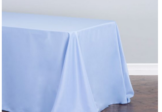 banquet, serenity blue tablecloth